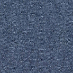 "ROBERT KAUFMAN ""ESSEX YARN DYED"" Linen Cotton Blend NAUTICAL by the 1/2 yard"