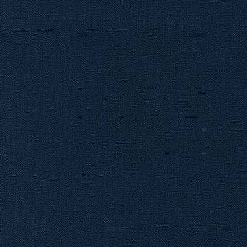 "ROBERT KAUFMAN ""ESSEX"" Linen Cotton Blend NAVY by the 1/2 yard"