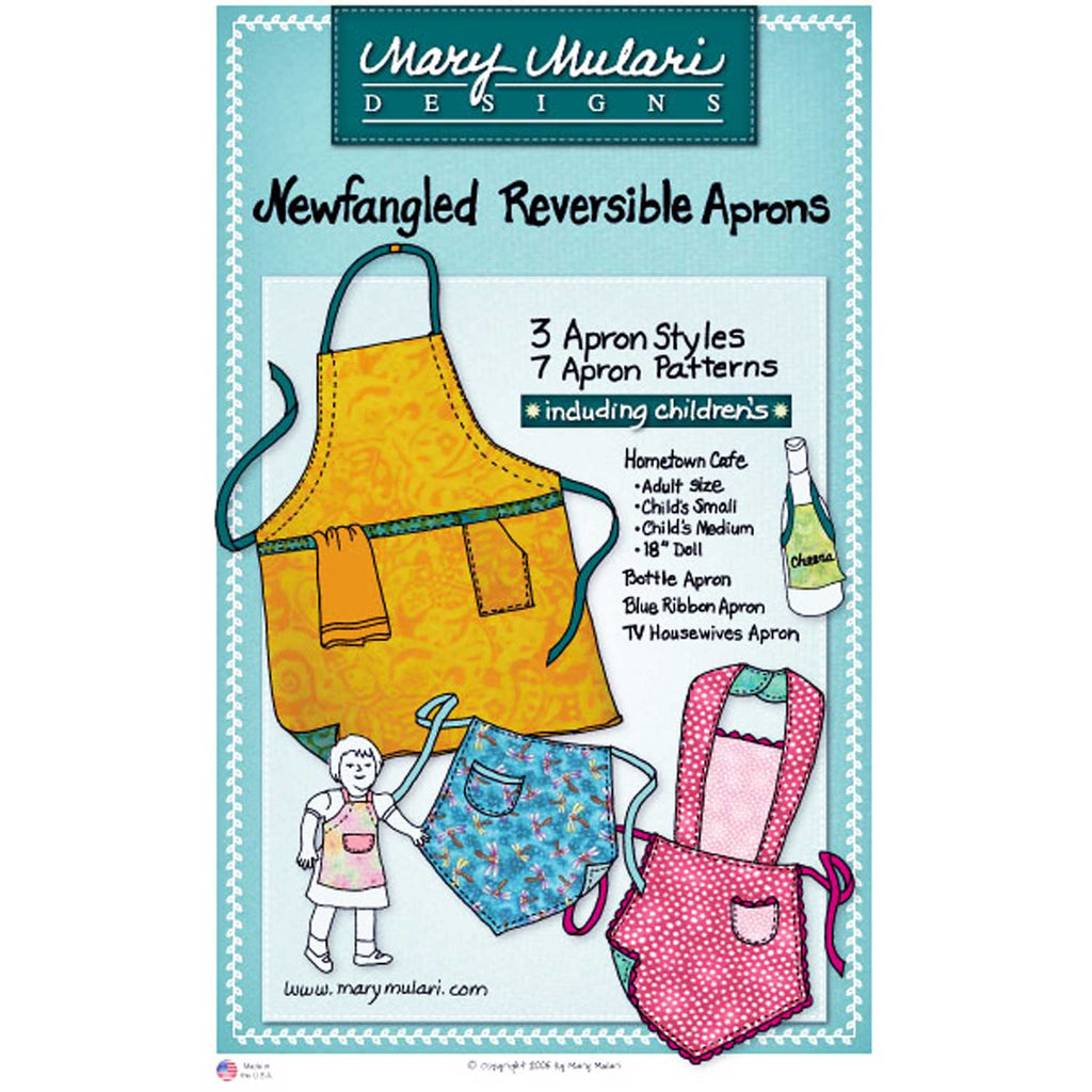 "Copy of MARY MULARI DESIGNS ""BISTRO QUARTERS APRON"" Sewing Pattern"