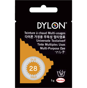 "DYLON ""MULTI PURPOSE HOT WATER DYE"" 5g package OLD GOLD"
