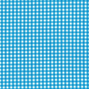 "ROBERT KAUFMAN ""CAROLINA GINGHAM 1/8"" P-5689-10 TURQUOISE by the 1/2 yard"
