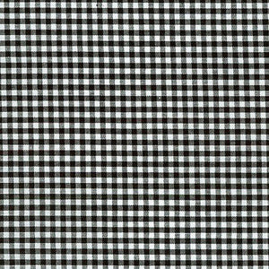 "ROBERT KAUFMAN ""CAROLINA GINGHAM 1/8"" P-5689-11 BLACK by the 1/2 yard"