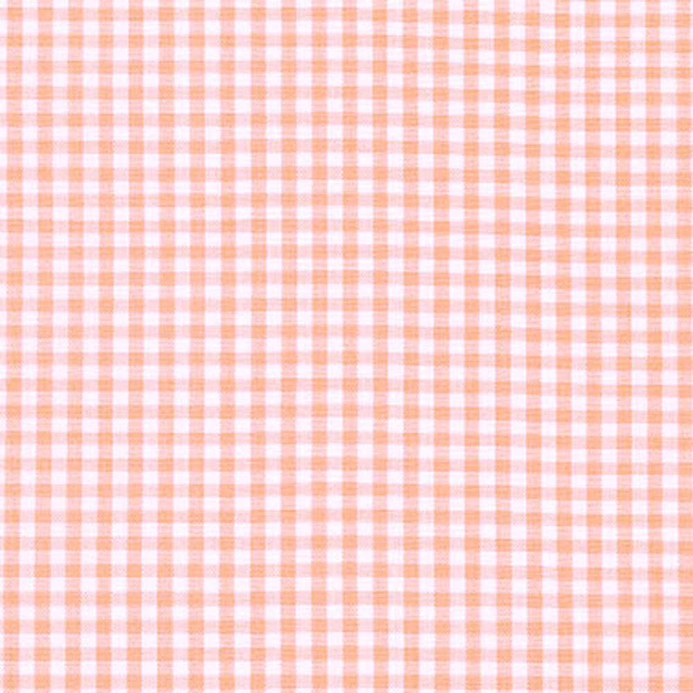 "ROBERT KAUFMAN ""CAROLINA GINGHAM 1/8"" P-5689-144 PEACH by the 1/2 yard"