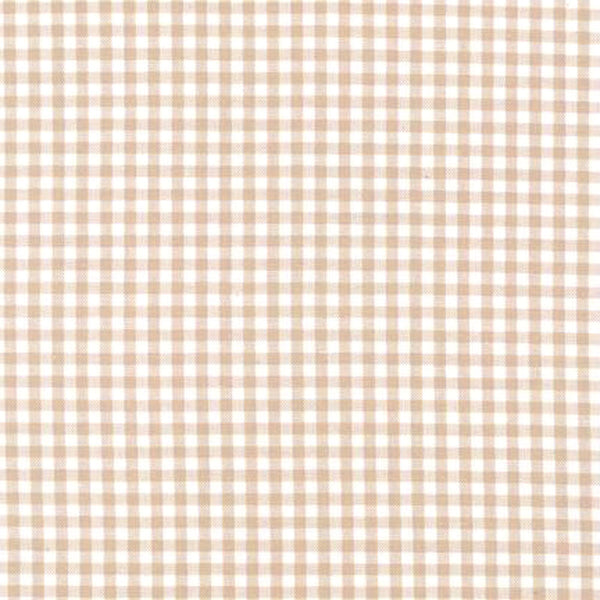 "ROBERT KAUFMAN ""CAROLINA GINGHAM 1/8"" P-5689-153 SAND by the 1/2 yard"