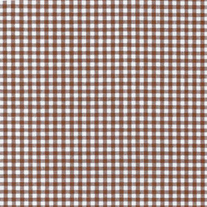 "ROBERT KAUFMAN ""CAROLINA GINGHAM 1/8"" P-5689-167 CHOCOLATE by the 1/2 yard"