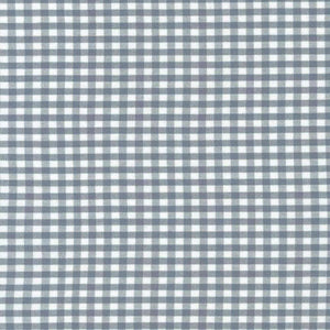 "ROBERT KAUFMAN ""CAROLINA GINGHAM 1/8"" P-5689-186 SILVER by the 1/2 yard"