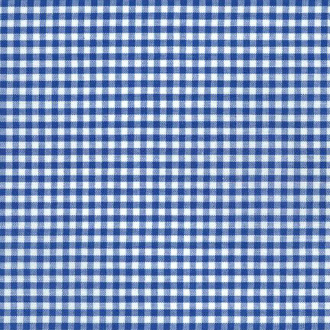 "ROBERT KAUFMAN ""CAROLINA GINGHAM 1/8"" P-5689-1 ROYAL by the 1/2 yard"