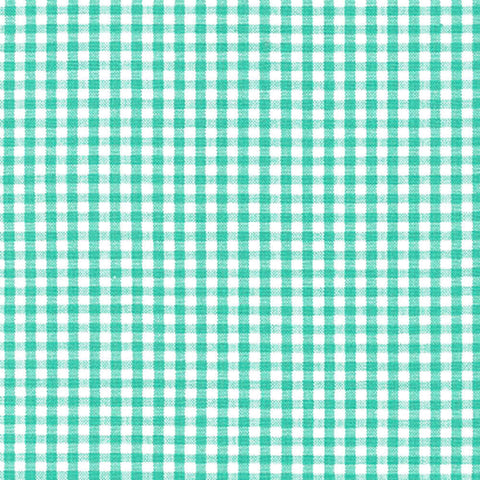 "ROBERT KAUFMAN ""CAROLINA GINGHAM 1/8"" P-5689-241 SEAFOAM by the 1/2 yard"