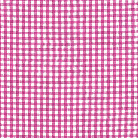 "ROBERT KAUFMAN ""CAROLINA GINGHAM 1/8"" P-5689-3 FUCHSIA by the 1/2 yard"