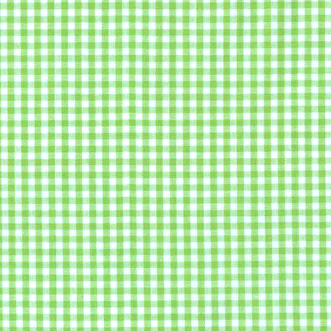 "ROBERT KAUFMAN ""CAROLINA GINGHAM 1/8"" P-5689-4 LIME by the 1/2 yard"