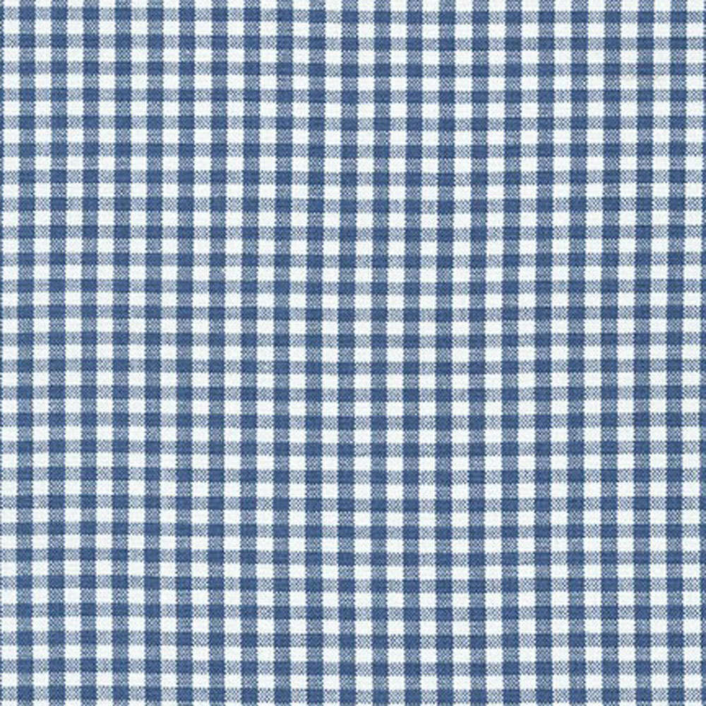 "ROBERT KAUFMAN ""CAROLINA GINGHAM 1/8"" P-5689-67 DENIM by the 1/2 yard"