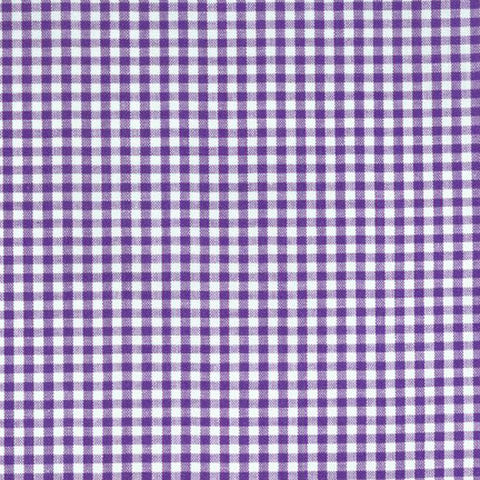 "ROBERT KAUFMAN ""CAROLINA GINGHAM 1/8"" P-5689-8 PURPLE by the 1/2 yard"
