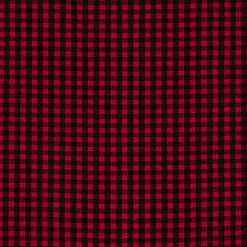 "ROBERT KAUFMAN ""CAROLINA GINGHAM 1/8"" P-5689-93 SCARLET by the 1/2 yard"