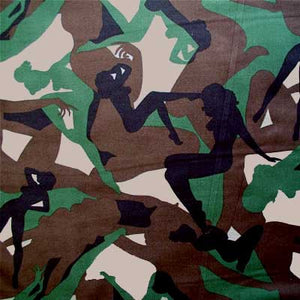 "ALEXANDER HENRY ""CAMOULFLAGE GIRLS"" Camouflage BY 1/2 YARD"