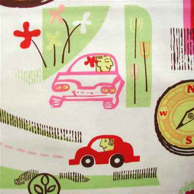 "ALEXANDER HENRY ""Road Trip"" Natural by 1/2 yard"