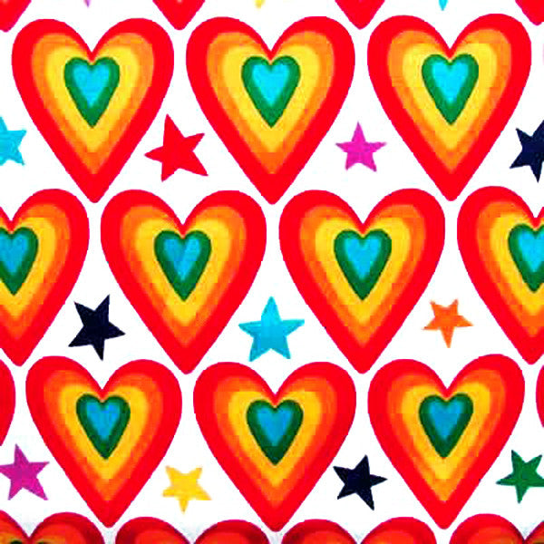 "ALEXANDER HENRY ""LOVE AMERICAN STYLE"" Bright by 1/2 yard"