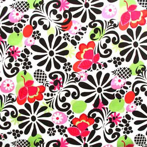 "WINDHAM ""MODERN GRACE"" Pineapple Black by 1/2 yard"