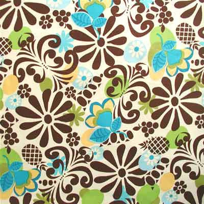"WINDHAM ""MODERN GRACE"" Pineapple Brown by 1/2 yard"
