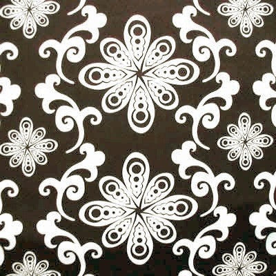 "FREE SPIRIT ""CHOCOLATE LOLLIPOP"" Floral Swirl Brown by 1/2 yard"