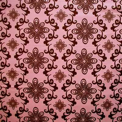 "FREE SPIRIT ""CHOCOLATE LOLLIPOP"" Floral Swirl Pink by 1/2 yard"