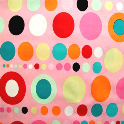 "ALEXANDER HENRY ""ON THE SPOT"" Pink by 1/2 yard"