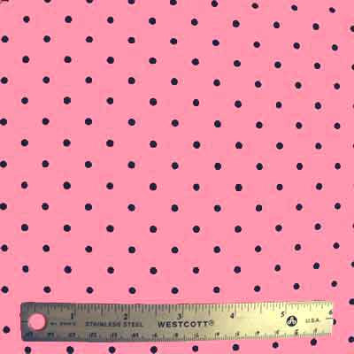 "MODA ""BE MINE"" POLKA DOT Pink 33 inches"