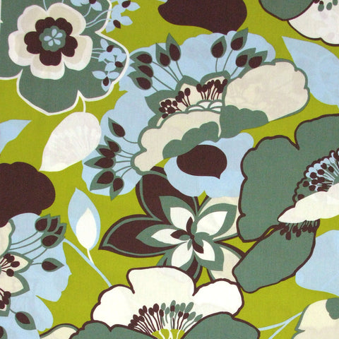 "ALEXANDER HENRY ""CAITIE"" Green Grey by 1/2 yard"