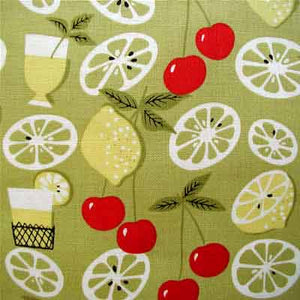 "WINDHAM ""ELSIE'S KITCHEN-ANNA GRIFFIN"" LEMON 25 inches"