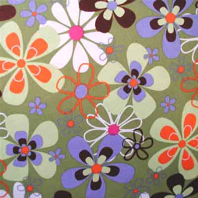 "MICHAEL MILLER ""FAR OUT FLORAL"" Olive 19 inches"