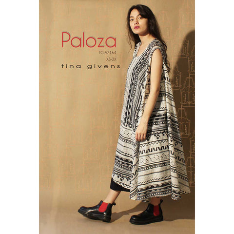 "TINA GIVENS ""PALOZA DRESS TG-A7164"" Sewing Pattern"