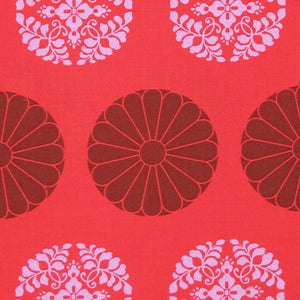 "AMY BUTLER ""CAMEO"" PRESSED FLOWERS Carmine by 1/2 yard"