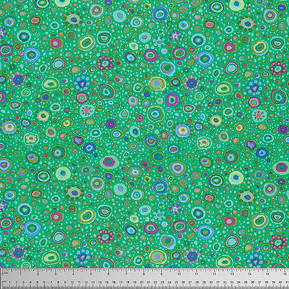 "KAFFE FASSETT ""ROMAN GLASS"" GP01 EMERALD by the 1/2 yard"