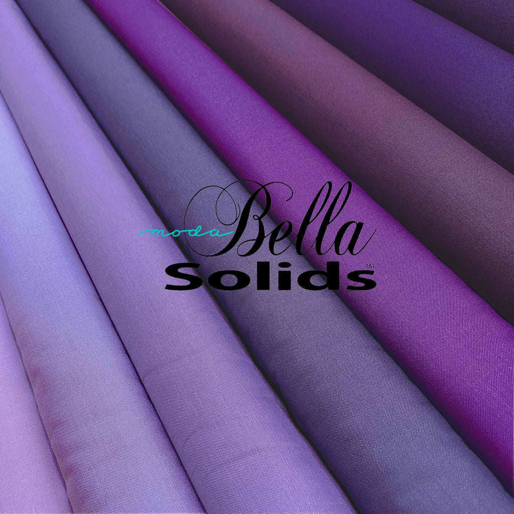"MODA ""BELLA 9900"" SOLID COTTON Purple Tone by the 1/2 yard"
