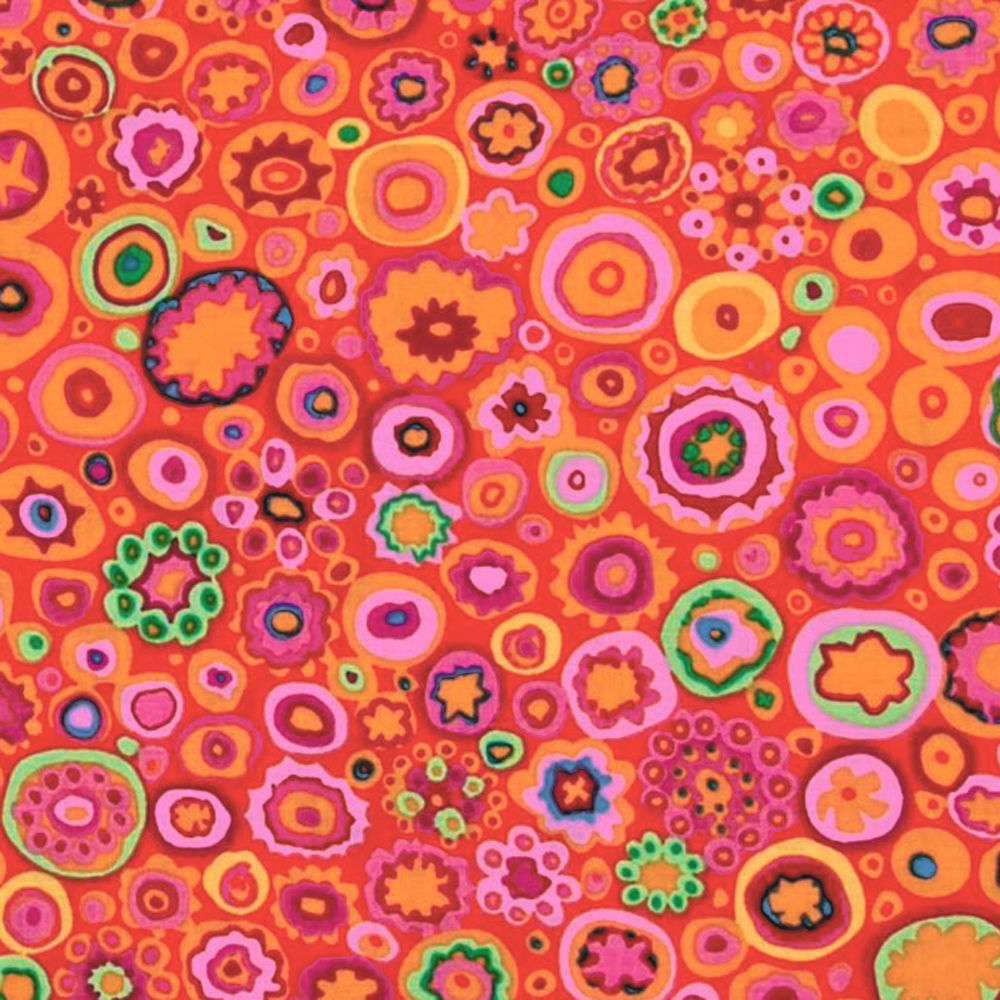 "KAFFE FASSETT ""PAPERWEIGHT"" GP20 RED by the 1/2 yard"