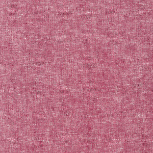 "ROBERT KAUFMAN ""ESSEX YARN DYED"" Linen Cotton Blend RED by the 1/2 yard"
