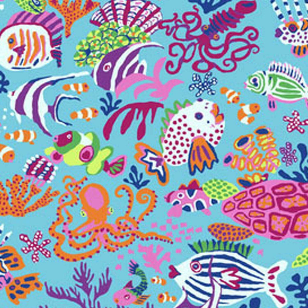 "FREE SPIRIT ""KAFFE FASSETT COLLECTIVE"" BRANDON MABLY SCUBA PWBM064 Jolly by 1/2 YARD"