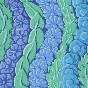 "FREE SPIRIT ""KAFFE FASSETT COLLECTIVE"" SERPENTINE PWGP145 Blue BY 1/2"