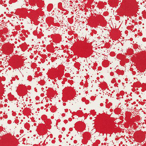 "ROBERT KAUFMAN ""BLOOD TYPE"" BLOOD Red by 1/2 yard"