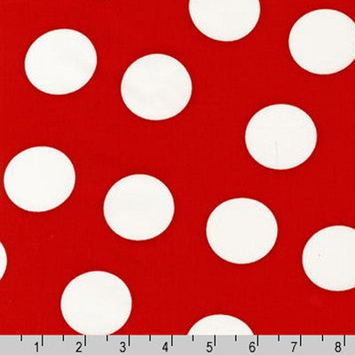 "ROBERT KAUFMAN ""PIMATEX BASICS"" BIG DOT Red"
