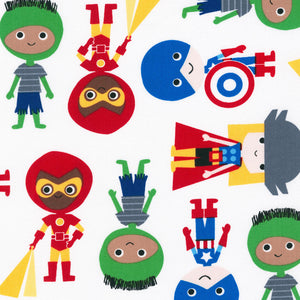 "ROBERT KAUFMAN ""SUPER KIDS"" BOYS & GIRLS Primary by 1/2 yard"