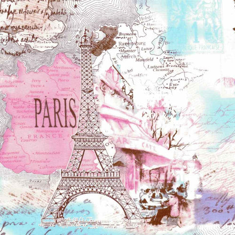 "TIMELESS TREASURES ""PARIS"" Pastel by 1/2 yard"