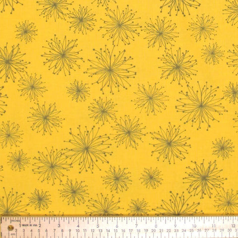 "MODA ""COMMA"" NIGELLA Mustard by 1/2 yard"