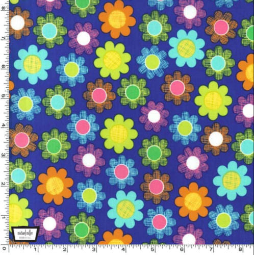 "MICHAEL MILLER ""HATCH PATCH"" Blue by 1/2 yard"