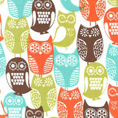 "MICHAEL MILLER ""SWEDISH OWLS"" Brown BY 1/2 YARD"