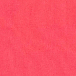 "ROBERT KAUFMAN ""ESSEX"" Linen Cotton Blend TOMATO by the 1/2 yard"