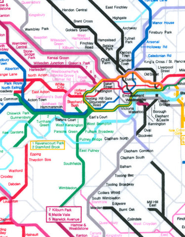 "TIMELESS TREASURES ""BRITISH SUBWAY MAP"" White"