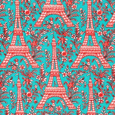 "MICHAEL MILLER ""EIFFEL TOWER"" Turquoise 17 inches"