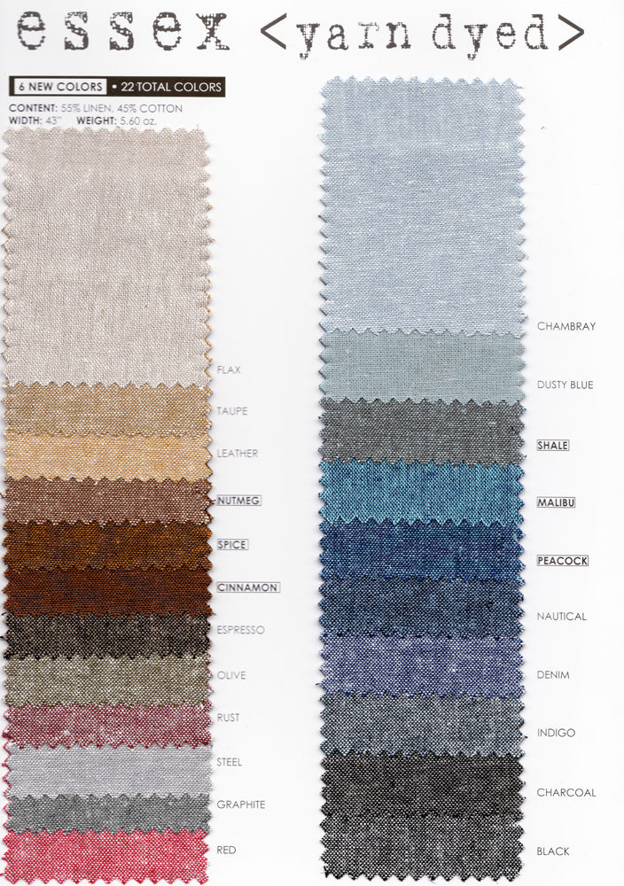 "ROBERT KAUFMAN ""ESSEX YARN DYED"" Linen Cotton Blend LEATHER by the 1/2 yard"