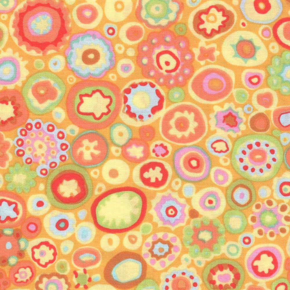 "KAFFE FASSETT ""PAPERWEIGHT"" GP20 YELLOW by the 1/2 yard"
