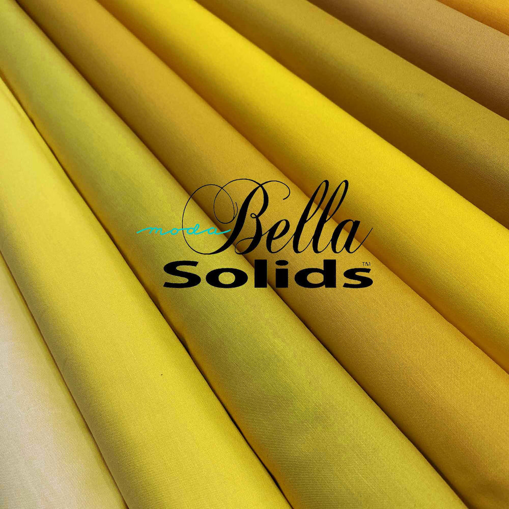 "MODA ""BELLA 9900"" SOLID COTTON Yellow Tone by the 1/2 yard"